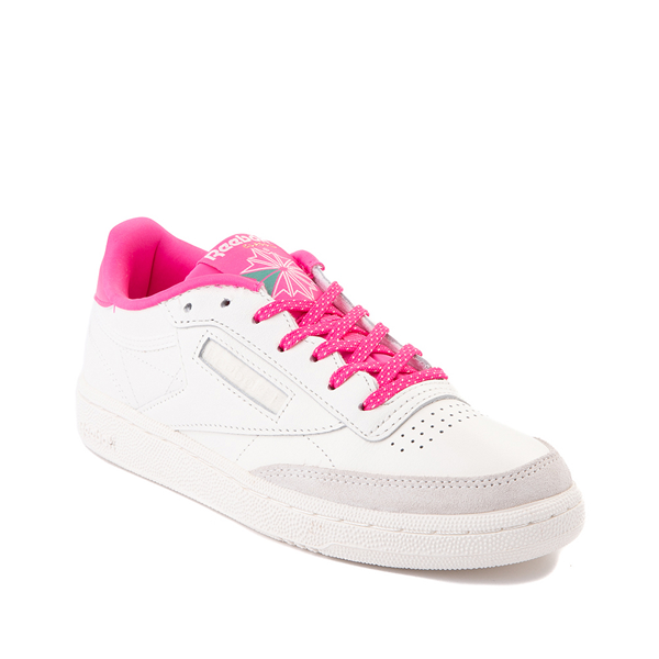 alternate view Womens Reebok Club C 85 Athletic Shoe - Chalk / Atomic PinkALT5