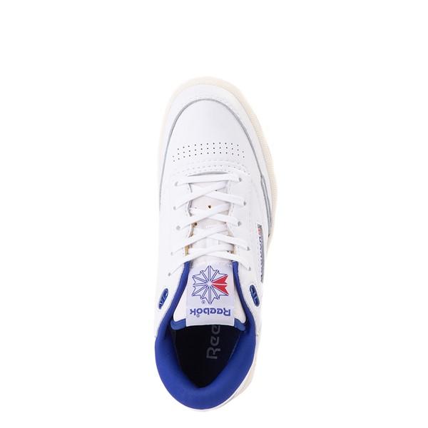 alternate view Reebok Club C Mid II Vintage Athletic Shoe - White / Bright CobaltALT2