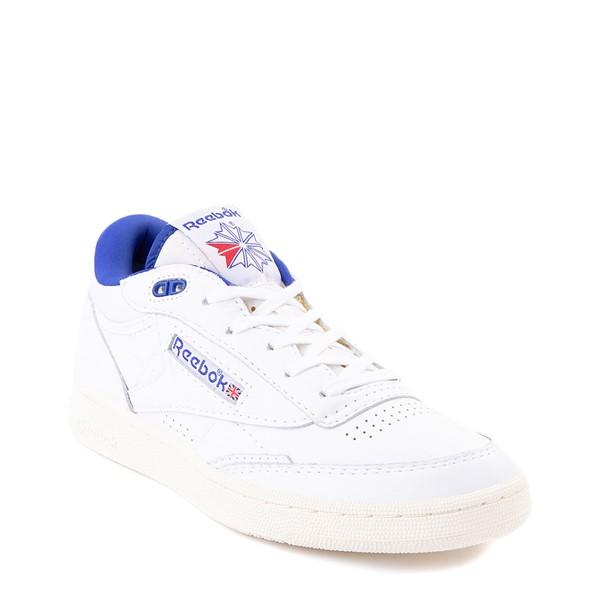 alternate view Reebok Club C Mid II Vintage Athletic Shoe - White / Bright CobaltALT5