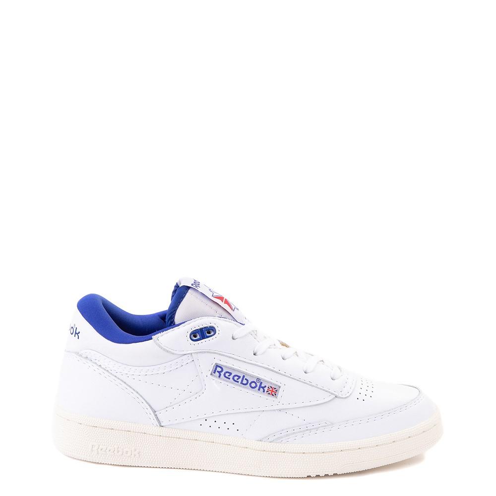 Reebok Club C Mid II Vintage Athletic Shoe - White / Bright Cobalt