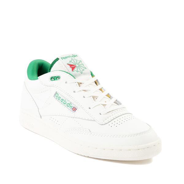 alternate view Reebok Club C Mid II Vintage Athletic Shoe - Chalk / Glen GreenALT5