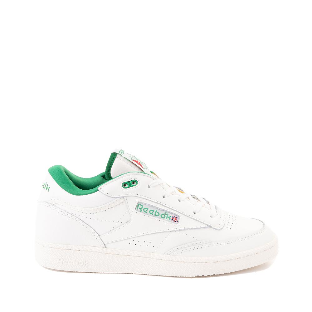 Reebok Club C Mid II Vintage Athletic Shoe - Chalk / Glen Green