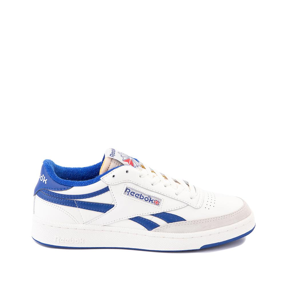 Mens Reebok Club C Revenge Vintage Athletic Shoe - Chalk / Collegiate Royal