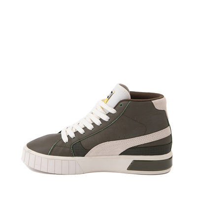 Alternate view of Womens Puma Cali Star Mid Athletic Shoe - Olive / Marshmallow