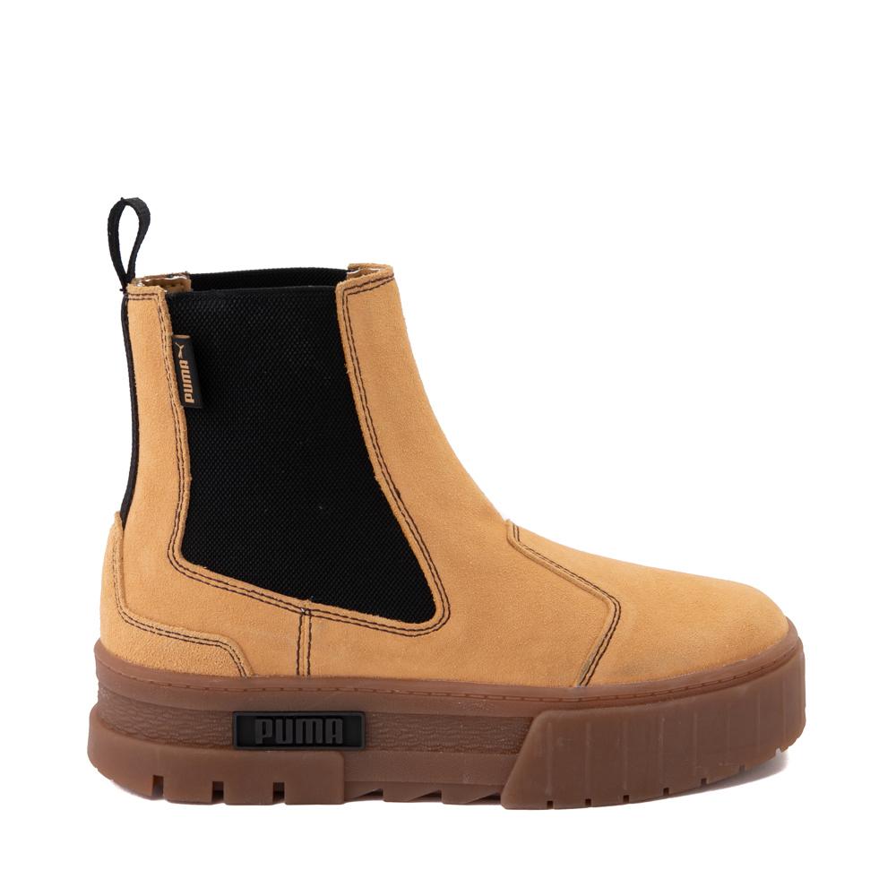 Womens Puma Mayze Platform Chelsea Boot - Wheat