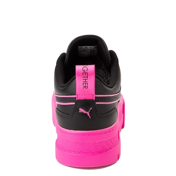 alternate view Womens Puma Mayze BCA Platform Athletic Shoe - Black / Luminous PinkALT4