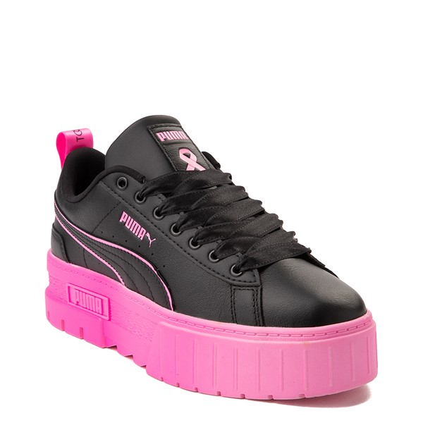 alternate view Womens Puma Mayze BCA Platform Athletic Shoe - Black / Luminous PinkALT5