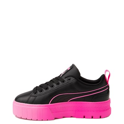 Alternate view of Womens Puma Mayze BCA Platform Athletic Shoe - Black / Luminous Pink