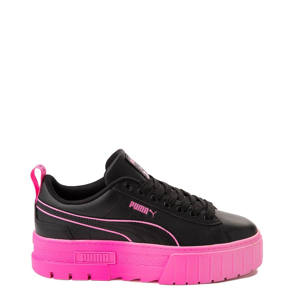 Womens Puma Mayze BCA Platform Athletic Shoe - Black / Luminous Pink