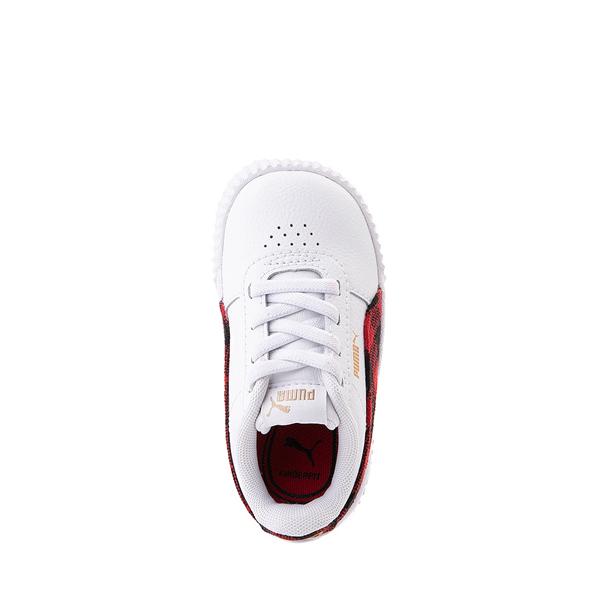 alternate view Puma Carina Athletic Shoe - Baby / Toddler - White / PlaidALT2