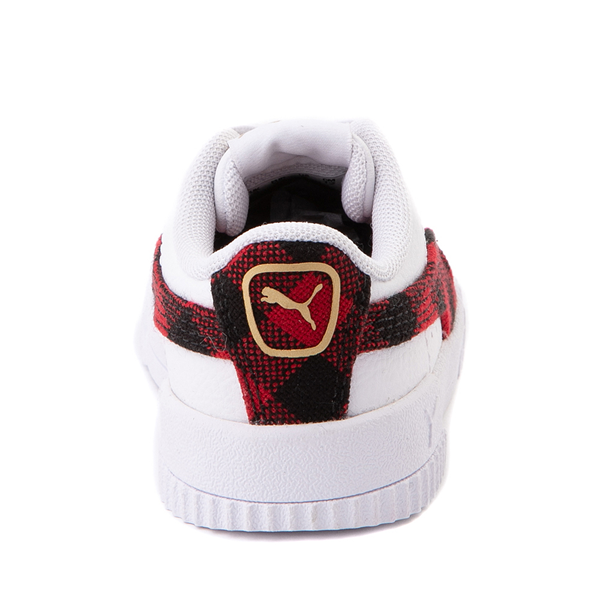 alternate view Puma Carina Athletic Shoe - Baby / Toddler - White / PlaidALT4