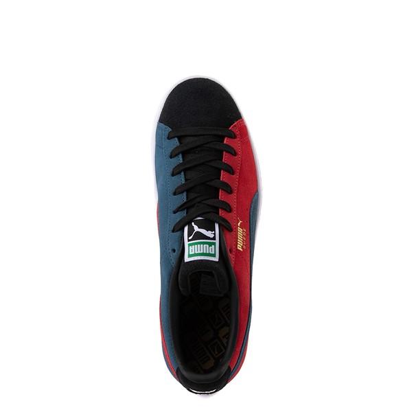 alternate view Womens Puma Suede Classic XXI Athletic Shoe - Black / Intense Blue / Urban RedALT2