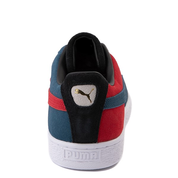 alternate view Womens Puma Suede Classic XXI Athletic Shoe - Black / Intense Blue / Urban RedALT4