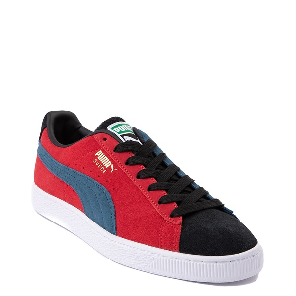 alternate view Womens Puma Suede Classic XXI Athletic Shoe - Black / Intense Blue / Urban RedALT5