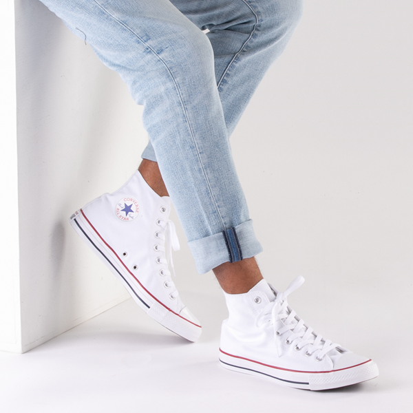 alternate view Converse Chuck Taylor All Star Hi Sneaker - Optical WhiteB-LIFESTYLE1