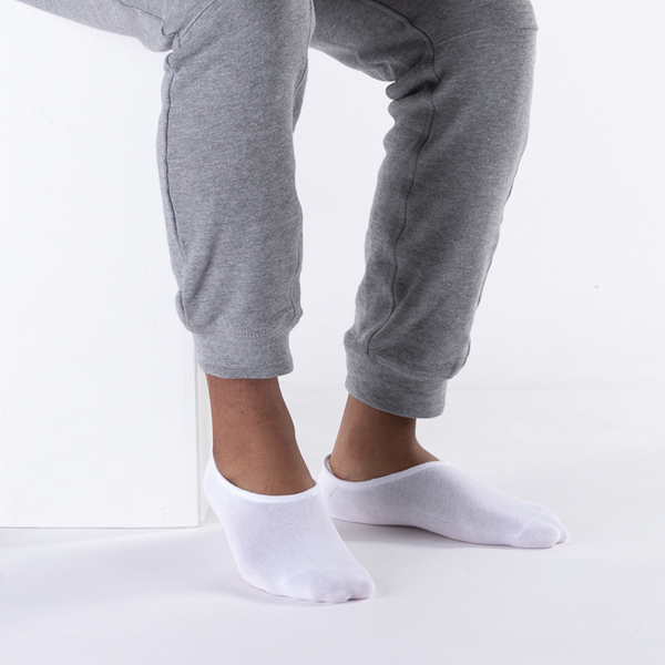 alternate view Mens No Show Footies 5 Pack - WhiteALT1