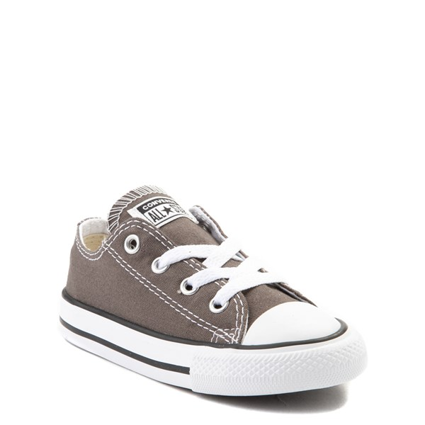 alternate view Converse Chuck Taylor All Star Lo Sneaker - Baby / Toddler - GrayALT1