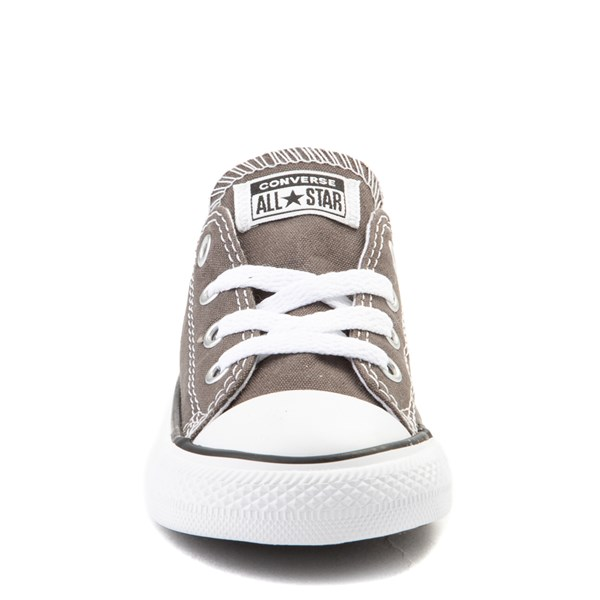 alternate view Converse Chuck Taylor All Star Lo Sneaker - Baby / Toddler - GrayALT4