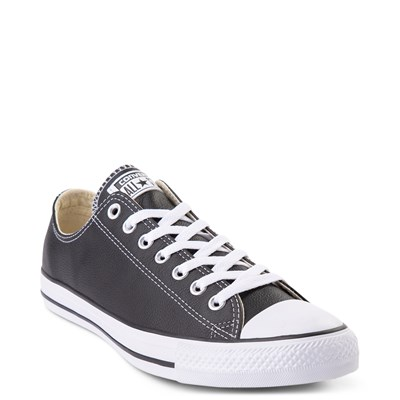 Alternate view of Converse Chuck Taylor All Star Lo Leather Sneaker - Black