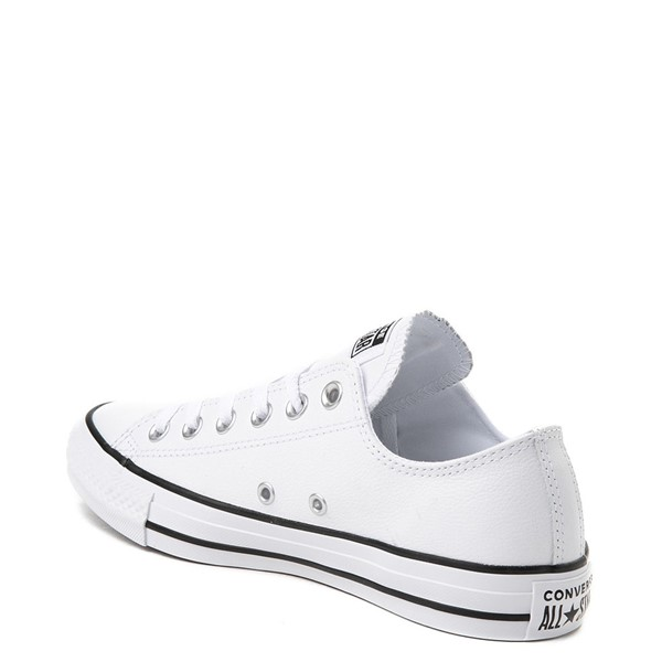 alternate view Converse Chuck Taylor All Star Lo Leather Sneaker - WhiteALT1