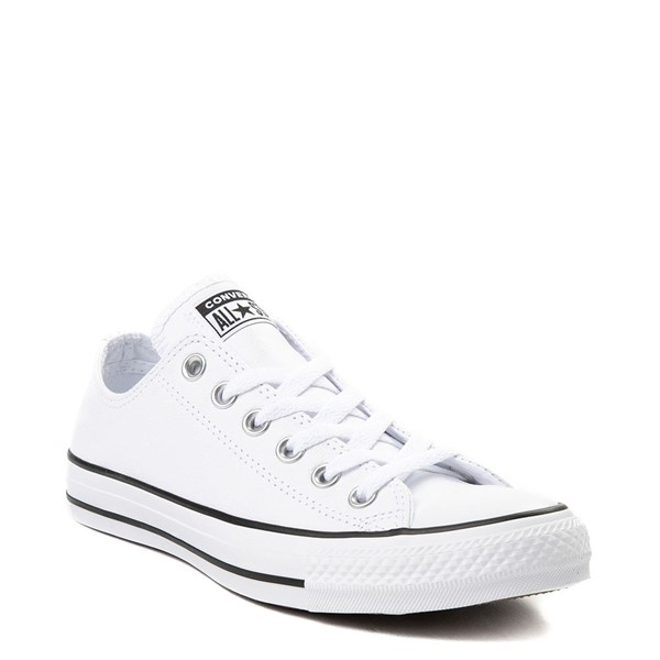alternate view Converse Chuck Taylor All Star Lo Leather Sneaker - WhiteALT5