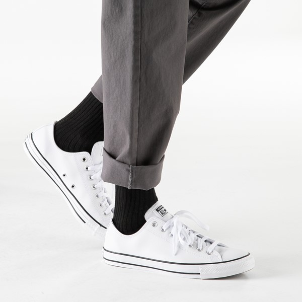 alternate view Converse Chuck Taylor All Star Lo Leather Sneaker - WhiteB-LIFESTYLE1