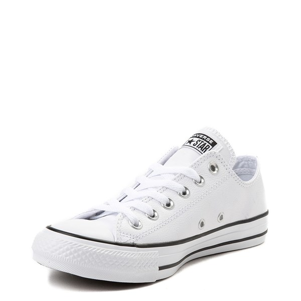 alternate view Converse Chuck Taylor All Star Lo Leather Sneaker - WhiteALT3