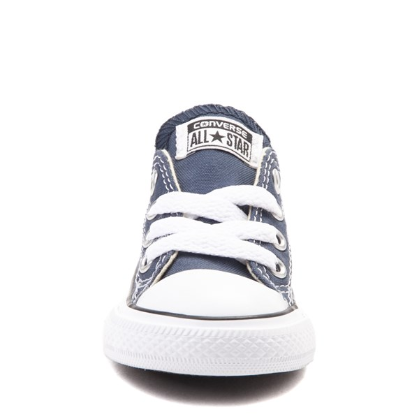 alternate view Converse Chuck Taylor All Star Lo Sneaker - Baby / Toddler - NavyALT4