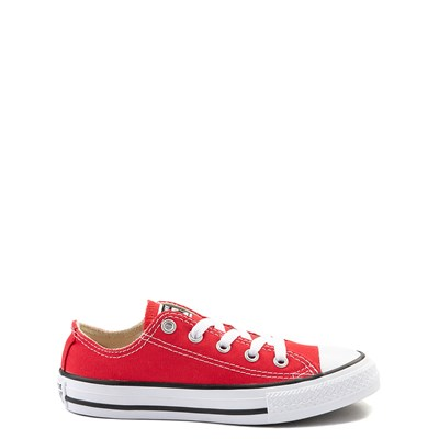 Main view of Youth Red Converse Chuck Taylor All Star Lo Sneaker